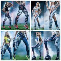 Wholesale Newest Fashion Womens D Galaxy Printed Leggings For Women Workout Capri Christmas Leggings Yoga Stretch Tights Sport Rugby Leggings M46