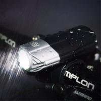 achat en gros de la lumière de la tête t6-Touchez interrupteur étanche à vélo extérieur USB rechargeable 1200lm L2 T6 LED avant de vélos Bike Head Light avec support