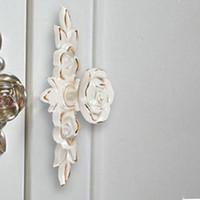 Wholesale Antique Gold Rose Cabinet Handle Door Drawer Dresser Cupboard Pull Handle Door Knob