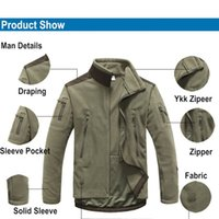 Wholesale Windproof Camping Jackets Man Fleece TAD Tactical Softshell Jacket Thermal Outdoor Sport Hunting Camping Jackets