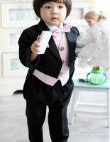 Wholesale Korean Tuxedo Jackets - Custom Made Korean Fashion Kid Complete Designer Boy Wedding Suit Boys' Attire Custom-made (Jacket+Pants+Tie+Vest) free shipping