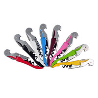 Wholesale Hot Sale Multi function Wine Corkscrew Stainless Steel Bottle Opener Knife Pull Tap Double Hinged Corkscrew Creative Promotional Gifts