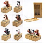 Wholesale Choken Bako Hungry Eating Dog Coin Piggy Money Bank Saving Box Creative Money box Coin Bank Dog piggy bank