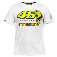 Wholesale 2016 Motorcycle casual T shirt Valentino Rossi VR46 The Doctor Moto GP Monza Cotton T shirt white