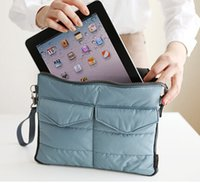 Wholesale Soft Pads Handle - Travel Light Weight Washable Tablet PC Padded Sleeve Storage Bag Handle Organizer Pouch For iPad Mini
