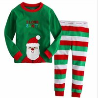 animal pajama pants - I Love Santa Christmas Sleepwear Set Cotton Soft Baby Boys Girls Stripe Pajamas Kids Full Sleeve Long Pants Toddler Pajamas Pajama Sets