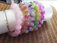amethyst ore - HOT new amethyst ore stone purple green jade radiation protection bracelets top quality
