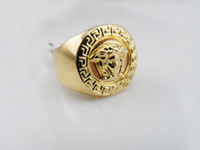 american gold bar - Fashion Gold Silver Rings Hip Hop Rock Punk Jewelry For Men Women Club Bar Birthday Good Gift