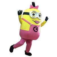 Dimensione adulta di alta qualità 12 tipi di stile di Cattivissimo me <b>minion costume</b> della mascotte Minion mascotte materiale costume EPE