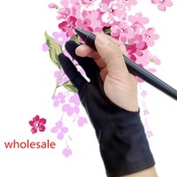 artist tablet - drawing glove artist glove for any Graphics drawing Tablet Black finger anti fouling both for right and left hand free size