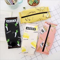 Wholesale Korean Style PU Cartoon Large Capacity Cookies Bag Pencil Bag Waterproof Handmade Pencil Bag Stationery Bags