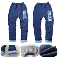autumn kids activities - High quality baby clothing Outdoor activities thicken warm winter boys girls Jeans pants kids trousers children pants ages