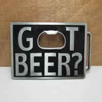 Alloy belt buckle opener - BuckleHome Bottle opener belt buckle with pewter finish and silver finish FP