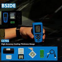 Wholesale BSIDE CCT01 Digital Portable Paint Coating Thickness Gauge Meter Width Measuring Instruments F N Probe Tester um mils