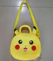 Wholesale Pikachu Plush Bags Poke Coin Bags Poke go wallet bags Cartoon Kids Coin Bags Pikachu Schoolbags for Kids Poke Baby School Bag D685