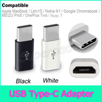 Wholesale Note Micro USB Type C Converter Adapter Data Cable Adapter For Apple MacBook Letv1S Nokia N1 MEIZU Pro5 OnePlus Two Google Chromebook