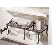 bathroom shelves cabinets - DHL York Lyra Kitchen Cabinet and Countertop Expandable Shelf Bronze