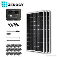 Wholesale Solar Panel Watt Starter Kit V RV Boat W Watts Mono Off Grid System