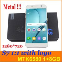 metal - S7 SM G930 MTK6580 Cell Phone Android Quad Core quot G Unlocked Show Fake G LTE GB Real G GB MP Smartphone Metal