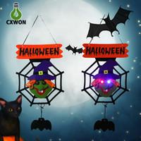 Wholesale Halloween Holiday effect light door hand light Pumpkin Spider ghost shape Holiday decoration night light per set