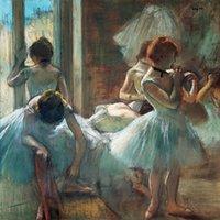 ballet dancers posters - figurative art posters canvas painting mural prints poster art Edgar Degas Classe de Ballet ballet dancers
