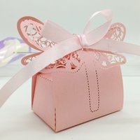 baby dragonflies - 200pcs Laser Cut Hollow Dragonfly Candy Box Chocolates Boxes With Ribbon For Wedding Party Baby Shower Favor Gift