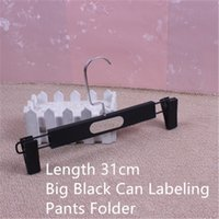 Wholesale Suit Pants Clothes Hangers For Clothes Stand In The Closet Black Coat Underwear Housekeeper Organizer Clips