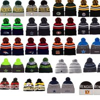 bengals sports - 2016 HOT Buccaneers Beanie Winter hat Bengals Beanie Wool Cap Men Womam Falcons Football Team sport cap Dallas Skull Cap Cowboys Beanie