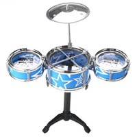 Wholesale Child Kids Jazz Drum Cymbal Sticks Rock Set Christmas Music Educational Blue musical instruments
