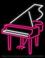 bar piano music - Piano Neon Sign Custom Real Glass Tube Concert Music Play Show Advertisement Musical Instruments LED Display Sign quot X30 quot