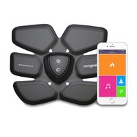 Wholesale Koogeek Smart Health Fitness Gear Fat Burning with Wireless Charging Pad App Function for Abdomen Fit Training Black