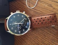 Wholesale New Chronograph Black Leather Watch