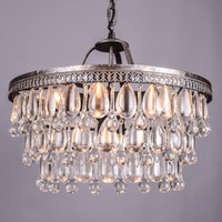 Wholesale Vintage Clarissa drops led crystal chandeliers lamp for dining room large french empire style Restoration Hardware lighting