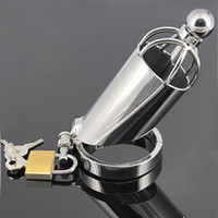 adult section - Newest Arrivals Sexy Toys Metal Grid Chastity Devices Chastity lock For Men Chastity Cage Long Section of the Cage Adult Games