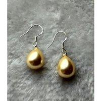 Wholesale AAA mm drop shell pearl earring