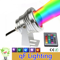 Wholesale 10W V Led RGB Underwater Light Waterproof IP67 Fountain Swimming Pool Lamp Colorful Change With Key IR Remote