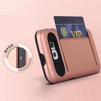 Cheap Samsung S7 case New Arrival Impact Resistant Protective credit Card slot Armor Cover Shockproof Rubber Bumper Cases for samsung s7 edge