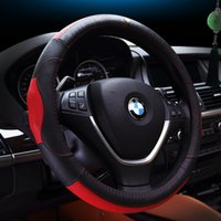 Wholesale Steering Wheel Covers with Genuine Leather diameter cm Spoke Wheel Car Interior Ford Nissan Model Mazda Gift for men Free shiping