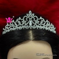 Wholesale Rhinestone Crowns Crystal Tiaras Headband Bridal Wedding Exquisite Hair Accessories Comb Princess Queen Party Prom Night Clup Show Km180
