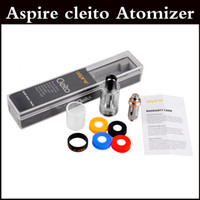 Wholesale Top quality aspire cleito atomizer clone sub ohm tank dual clapton coils ml tank Cleito RTA Corlorful Cleito Cuffs stainess black