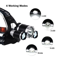 Wholesale 2016 new arrivals Lm Headlamp CREE Xml T6 Flashlight Head Torch Linterna With Fishing Light Charger headlamps