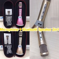 Wholesale 2016 Hot K068 Newest Wireless Bluetooth Microphone with Speaker High Quality Mini Karaoke Portable Singing Recors KTV Chargeable Wholesales