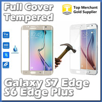 arc covers - For S7 Edge S6 S7 Plus Full Cover D Arc Curved mm Tempered Glass Screen Protector Shield Colors With Retail Package