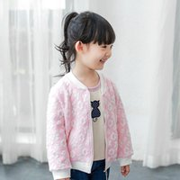 Wholesale Kids clothing sweat flowers girls jackets Crew neck casual coat All matched tops autumn hot sale clothing cheap price Fast shipping