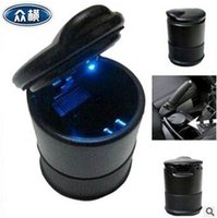 Wholesale 600pcs CCA3701 High Quality Unique Modern And Easy To Clean LED Light Automatic Car Cigarette Ash Holder Portable Plastic Car Ashtray Holder