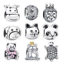 amp cat - 2016 Gift Sterling Silver Lovely Cat Animal Charms Fit Original Pandora Bracelets Beads amp Jewelry Making PS053