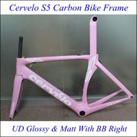 bicycle custom paint - Hot Sale Pink Custom Painting Road Carbon Bike Frame Bicycle Frames BB Right Bottom Bracket UD Glossy Matt Finish Quality Frames Free Ship