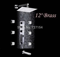 bathtubs jetted - Modern quot Brass Shower Faucet Thermostatic Bathtub Mixer Tap With Massage Jets