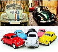 Wholesale Classic VW Beetle Exquisite Car Model Alloy Die cast Cars Toys