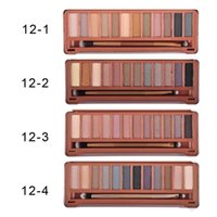 best quality makeup brands - Nude colors eyeshaodw Eyeshadow Palette Eye Shadow With Brush makeup colors palette eyeshadow Brand New Best quality